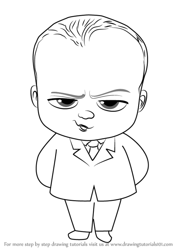 How to draw baby boss from the boss baby