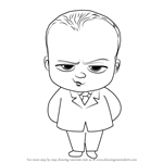 the boss baby drawing tutorials step by step drawingtutorials101 com