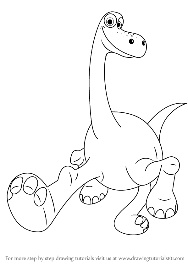 Learn How To Draw Arlo From The Good Dinosaur The Good