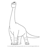 How to Draw Buck from The Good Dinosaur