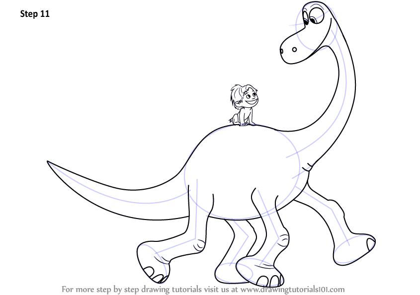 Learn how to draw spot riding arlo from the good dinosaur for How to draw good sketches