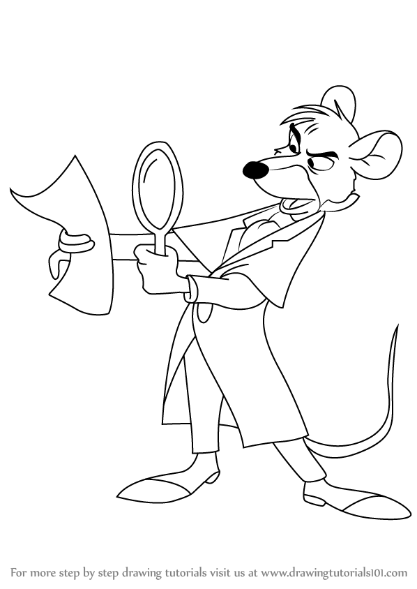 how to draw basil of baker street from the great mouse detective