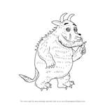 How to Draw Gruffalo from The Gruffalo