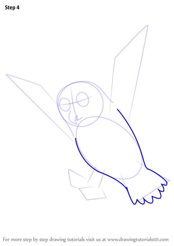 how to draw owl 4