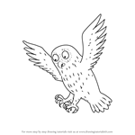 How to Draw Owl from The Gruffalo