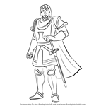 How to Draw Captain Phoebus from The Hunchback of Notre Dame