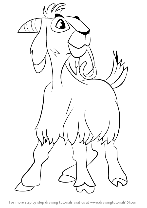 Learn How to Draw Djali the Goat from The Hunchback of Notre