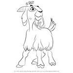 How to Draw Djali the Goat from The Hunchback of Notre Dame