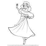 How to Draw Esmeralda from The Hunchback of Notre Dame