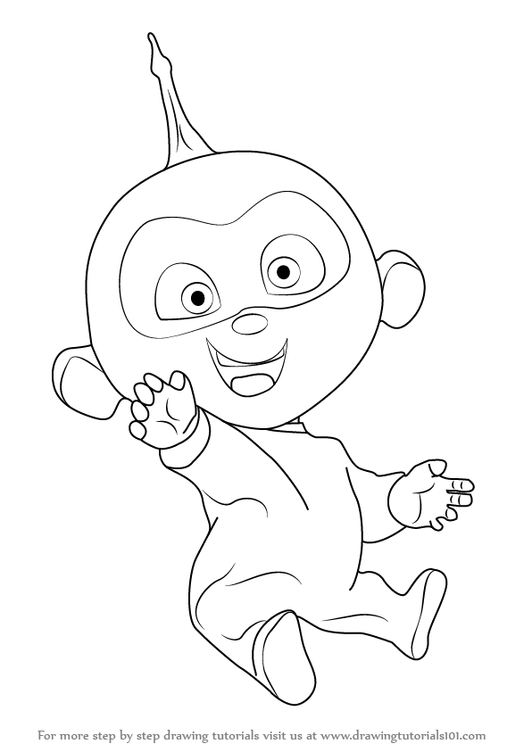 Learn How To Draw Jack Jack Parr From The Incredibles The