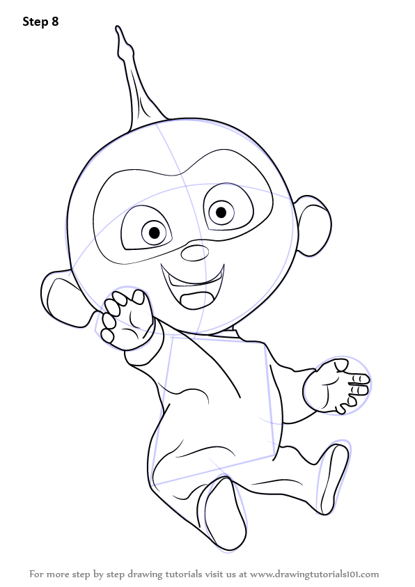 Learn How to Draw Jack-Jack Parr from The Incredibles (The ...