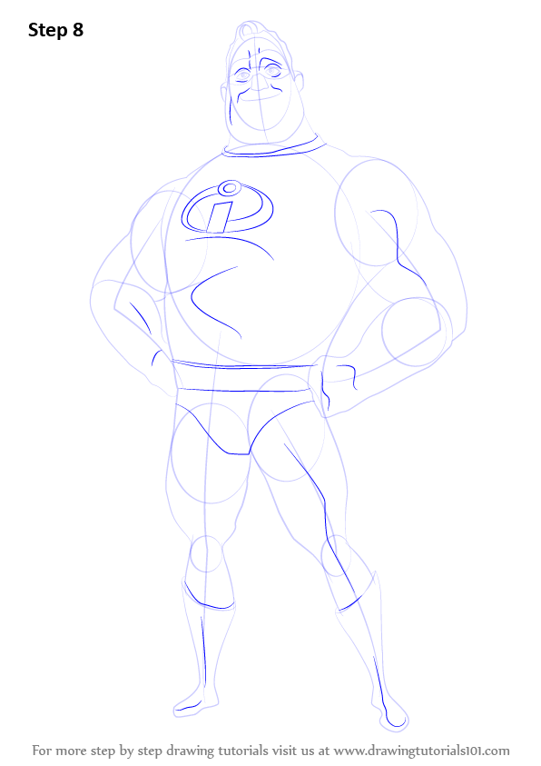 Learn How to Draw Mr. Incredible from The Incredibles (The ...