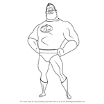 How to Draw Mr. Incredible from The Incredibles