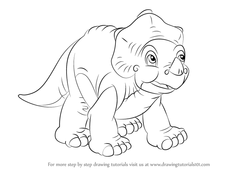 Learn how to draw cera from the land before time the land for The land before time coloring pages