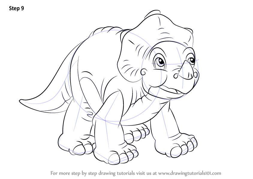 Learn How To Draw Cera From The Land Before Time (The Land Before Time)  Step By Step : Drawing Tutorials