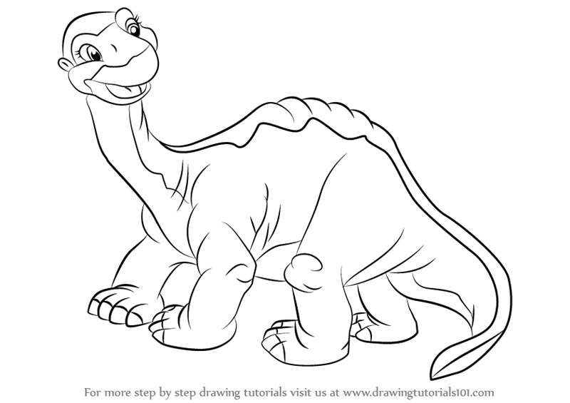 the land before time coloring pages - learn how to draw littlefoot from the land before time
