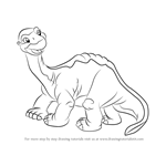 How to Draw Littlefoot from The Land Before Time