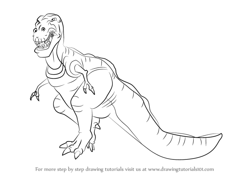 Learn How to Draw Sharptooth from The Land Before Time (The Land