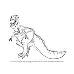 How to Draw Sharptooth from The Land Before Time