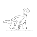 How to Draw Shorty from The Land Before Time