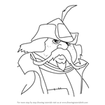 How to Draw Captain Cully from The Last Unicorn