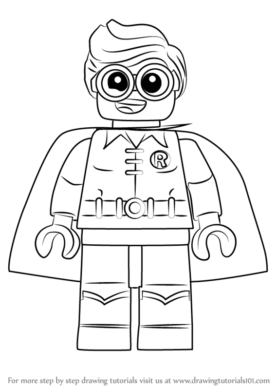 How to draw robin from the lego batman movie