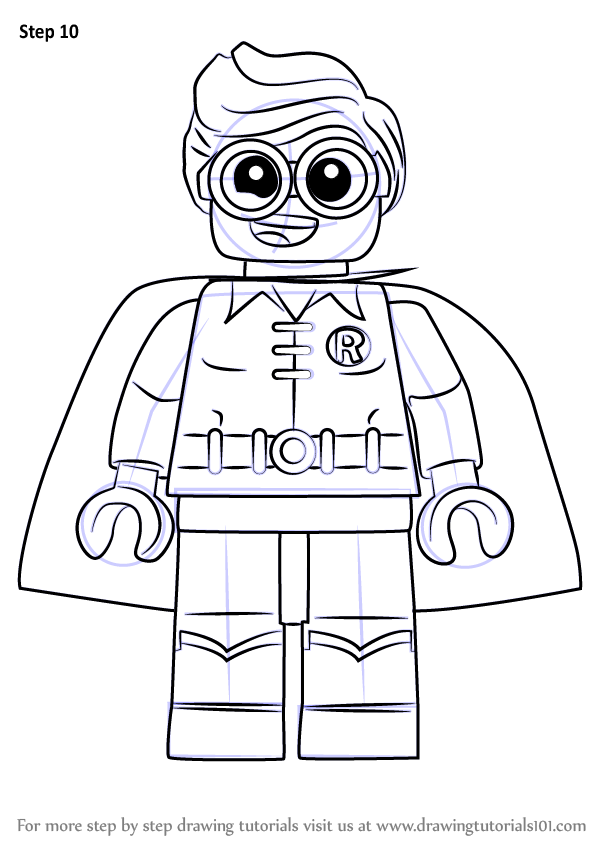 It's just an image of Striking Lego Robin Coloring Pages