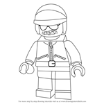 How to Draw Bad Cop from The LEGO Movie