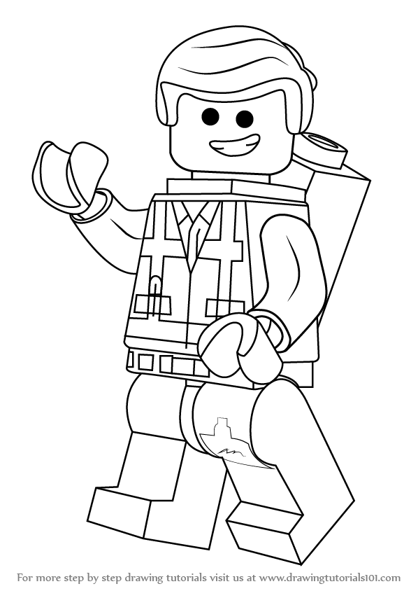 Learn How to Draw Emmet Brickowski from The Lego Movie ...
