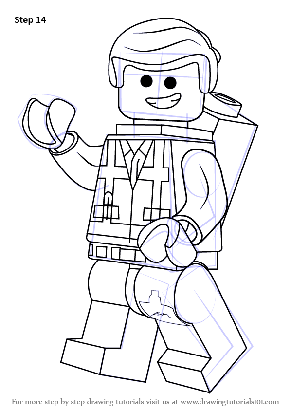 Learn How To Draw Emmet Brickowski From The Lego Movie