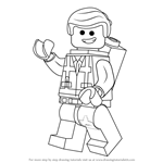How to Draw Emmet Brickowski from The Lego Movie