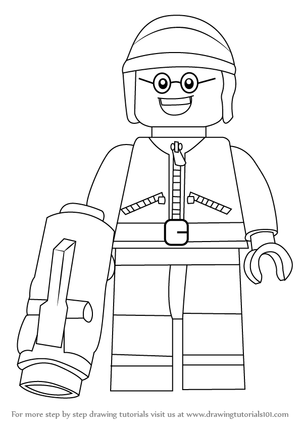 Lego movie coloring pages benny