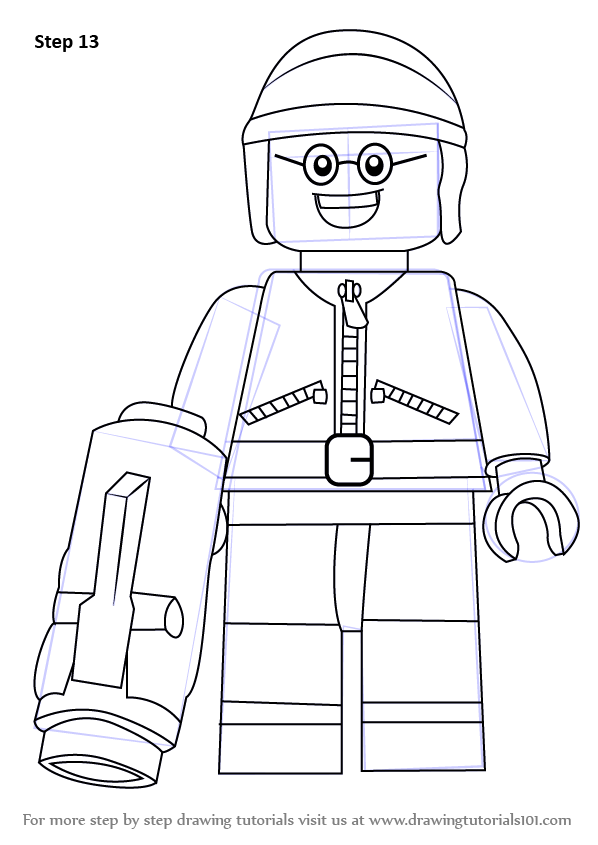 Step by Step How to Draw Good Cop from The Lego Movie ...