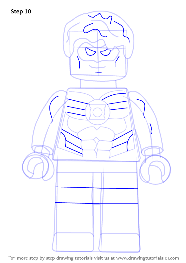 Learn How to Draw Green Lantern from The Lego Movie (The ...