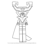 How to Draw Lord Business from The Lego Movie
