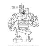 How to Draw MetalBeard from The LEGO Movie