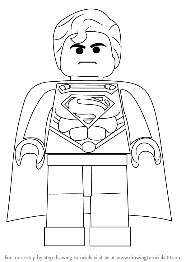 Learn How to Draw Superman from The LEGO Movie (The Lego ...
