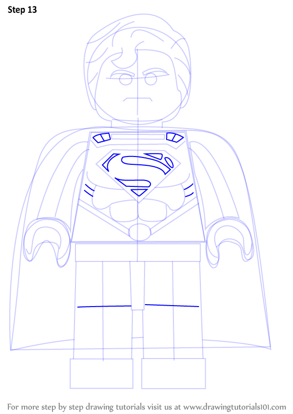 learn how to draw superman from the lego movie the lego