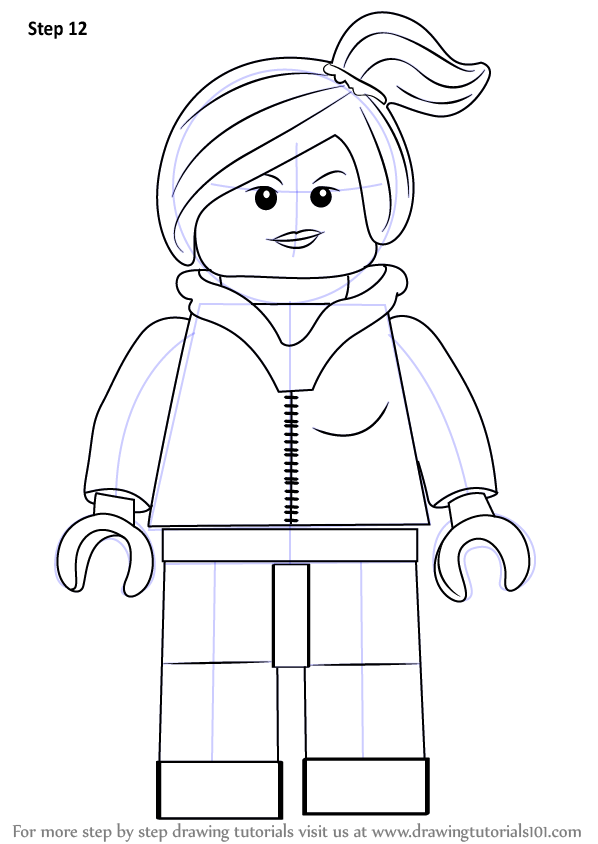 wyldstyle coloring pages - learn how to draw wyldstyle from the lego movie the lego