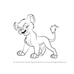 How to Draw Vitani from The Lion King 2 - Simba's Pride