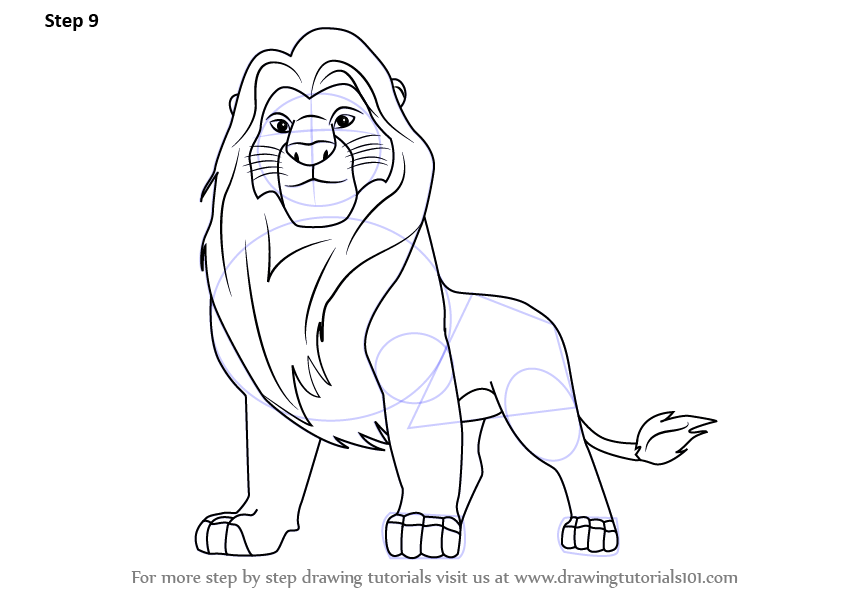 Learn How to Draw Mufasa from The Lion King (The Lion King ...