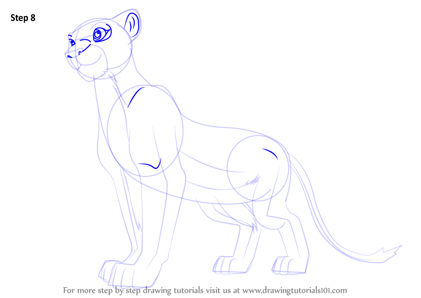 How to draw lion king characters step by step