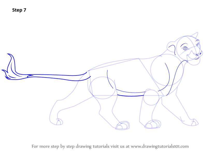 learn how to draw sarabi from the lion king the lion king step by step drawing tutorials