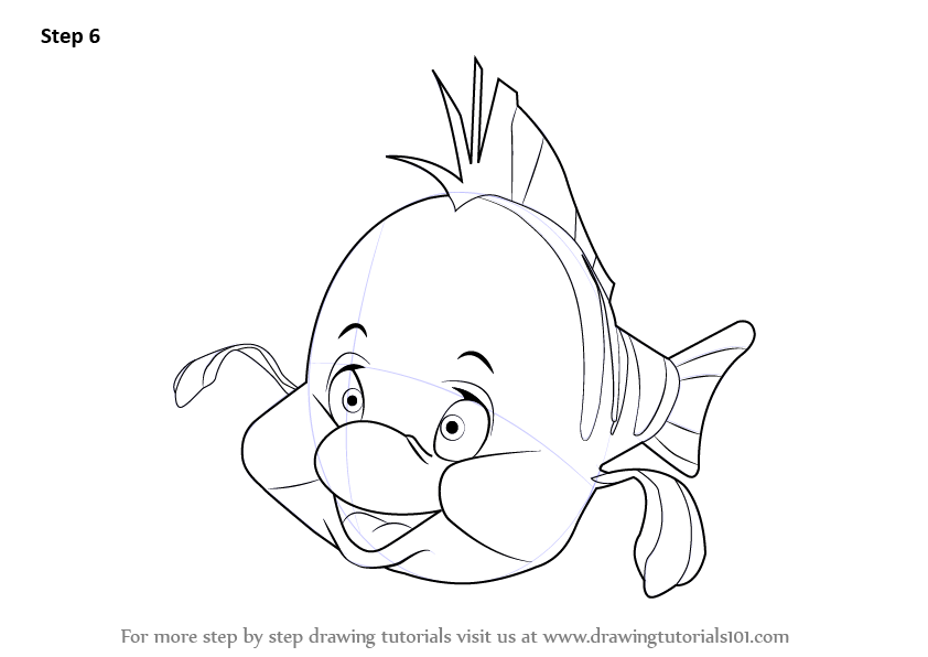 How To Draw Sebastian From Little Mermaid