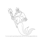 How to Draw King Triton from The Little Mermaid