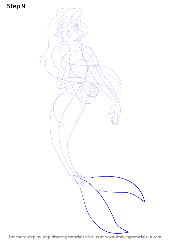 Learn How To Draw Princess Ariel From The Little Mermaid The Little