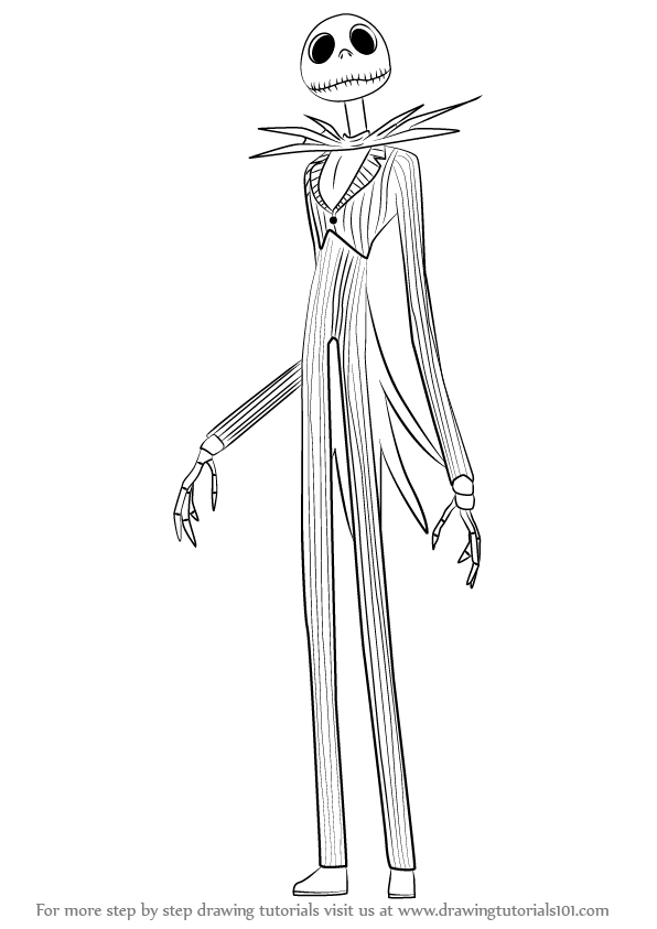 Jack skellington colouring pages page 2 - Learn How To Draw Jack Skellington From The Nightmare