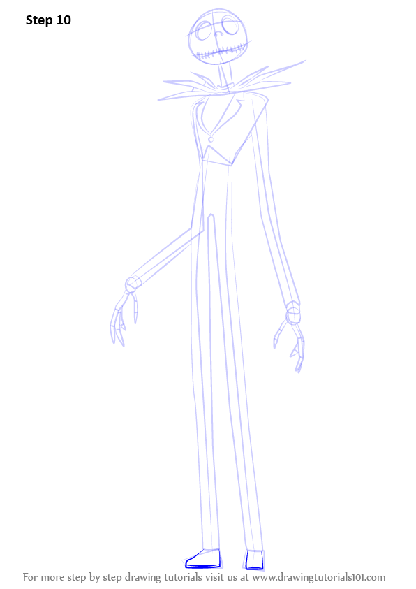 Learn How To Draw Jack Skellington From The Nightmare