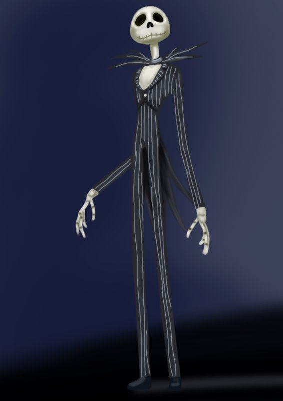 how to draw jack skellington from the nightmare before christmas - Jack From Nightmare Before Christmas