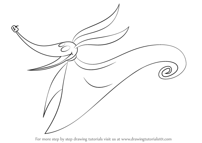 Learn How To Draw Zero From The Nightmare Before Christmas Zero From Nightmare Before Coloring Pages